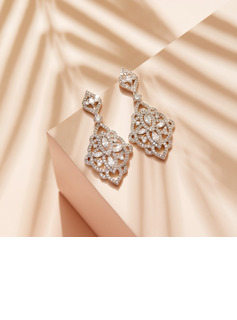 Non-personalized Ladies' Unique Zircon Earrings For Her