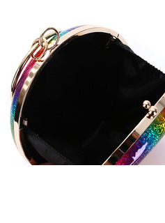 Fashionable/Shining/Colorful/Shell Shaped/Rainbow PU Clutches