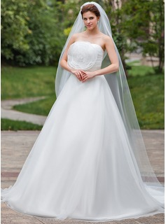 One-tier Pencil Edge Chapel Bridal Veils