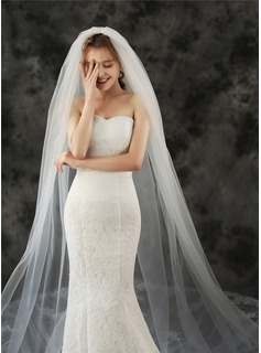 black fishtail wedding dress