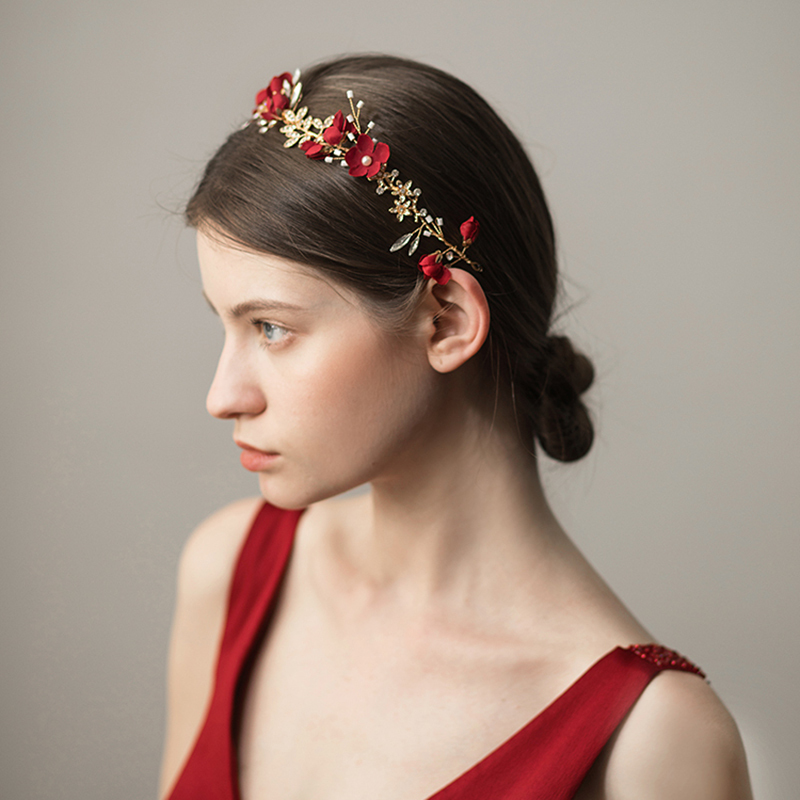 Gorgeous Alloy/Fabric Headbands (Sold in single piece)
