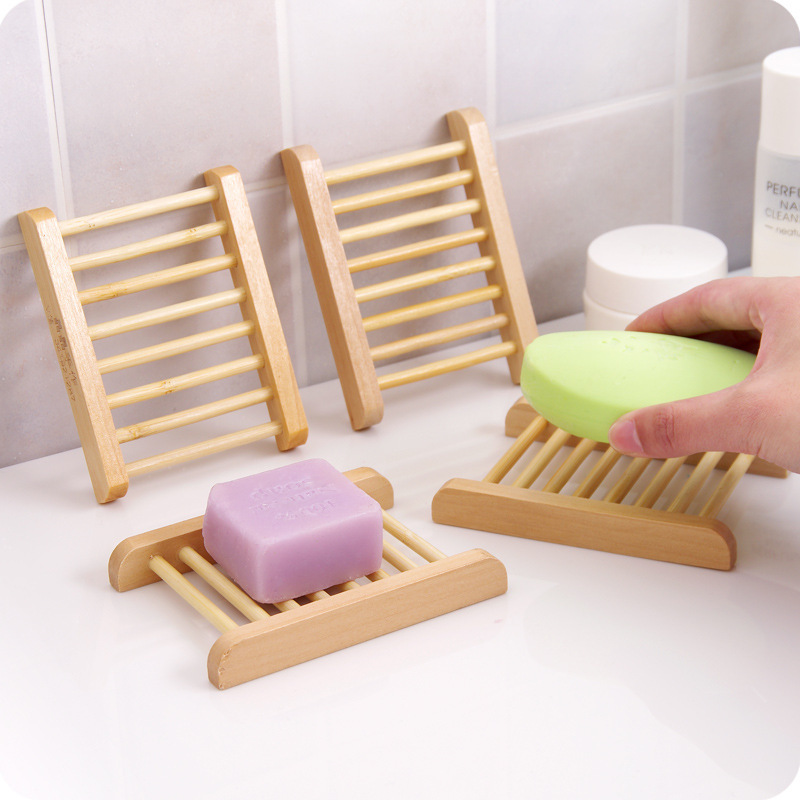 Traditional/Classic Solid Color Wooden Soap Holder (Set of 5)