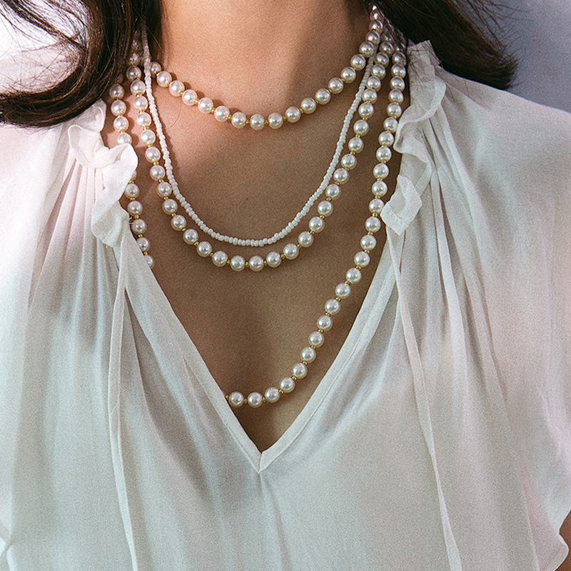 Ladies' Elegant Imitation Pearls Imitation Pearls Necklaces For Bridesmaid/For Mother/For Friends