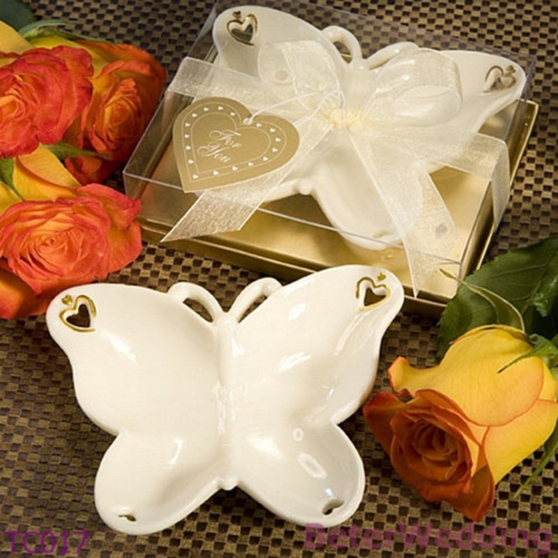 Porcelain Butterfly Candy Dish and Candle Holder (Sold in a single piece)