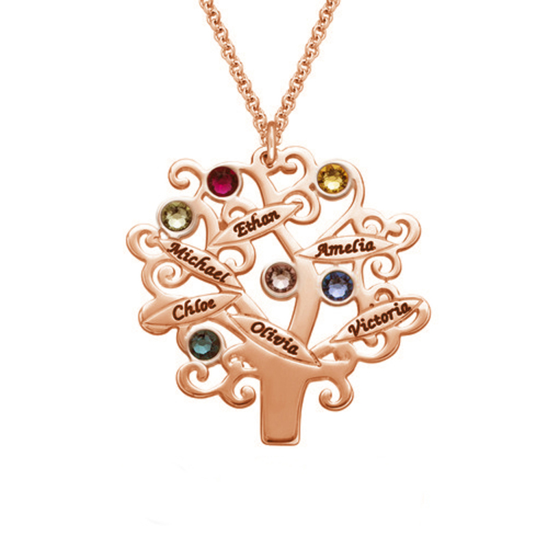 Name Necklace Birthstone Necklace -