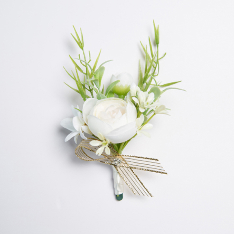 Gorgeous Free-Form Satin Boutonniere (Sold in a single piece) -