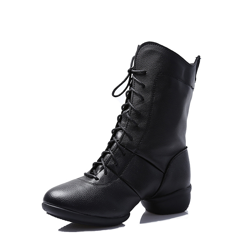 Women's Leatherette Sneakers Dance Boots With Lace-up Dance Shoes
