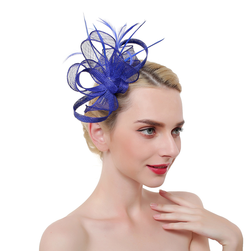 Ladies' Eye-catching/Charming/Romantic Cambric/Feather With Feather Fascinators