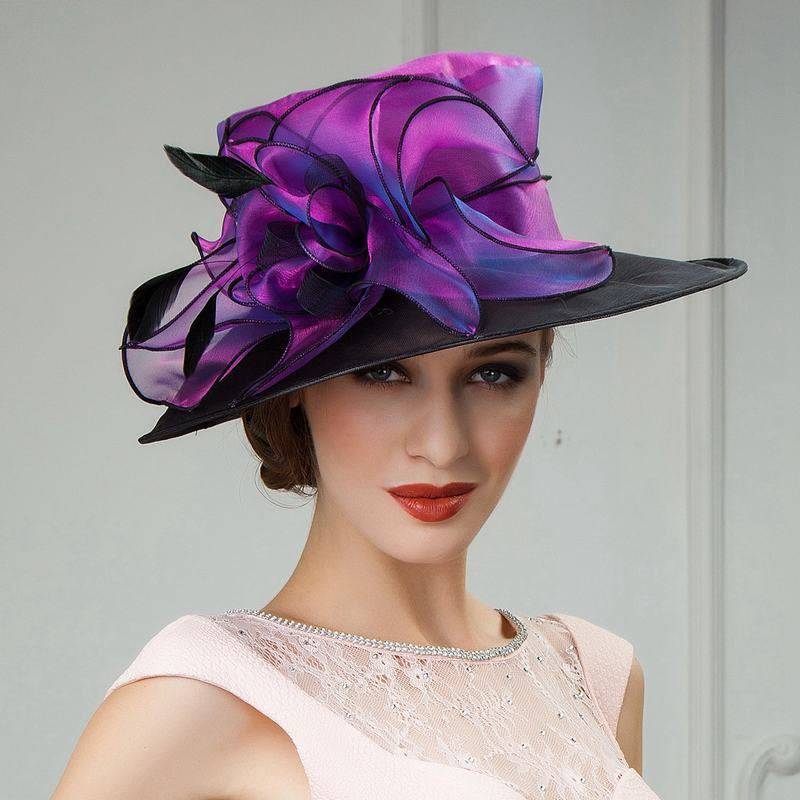 Organza/Tüy Fascinators/Kentucky Derby Şapkaları