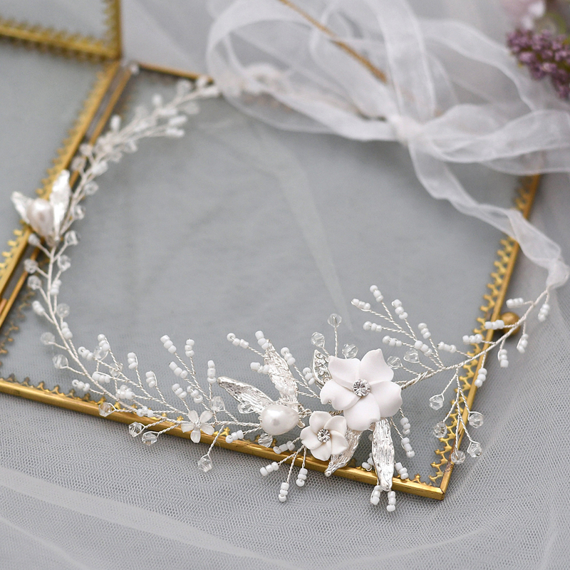 Ladies/Kids Beautiful Crystal/Rhinestone/Alloy/Imitation Pearls/Polymer Clay Headbands With Rhinestone/Venetian Pearl/Imitation Crystal (Sold in single piece)