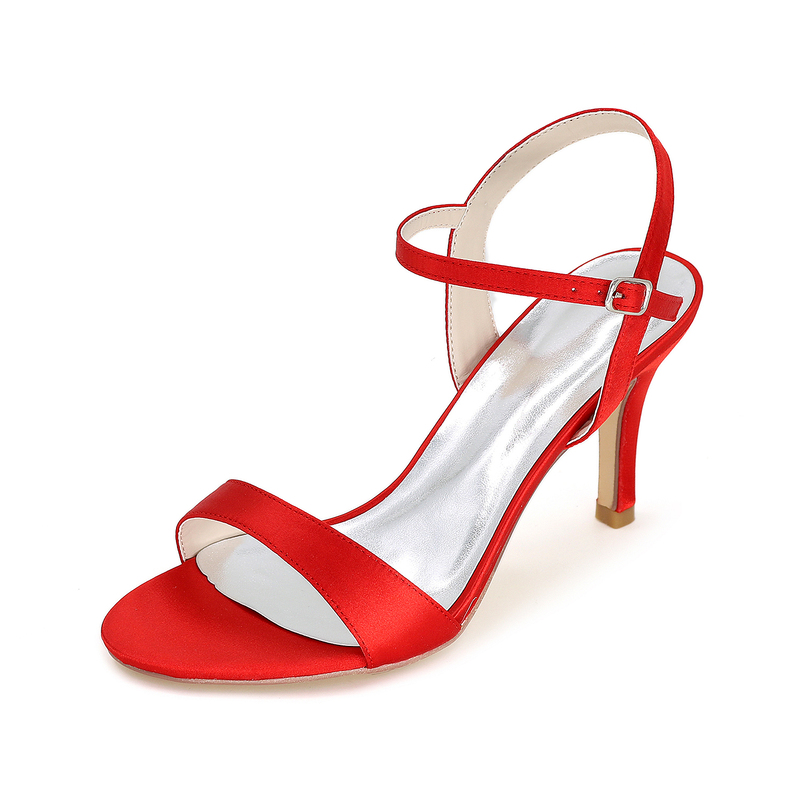 Women's Satin Peep Toe Sandals