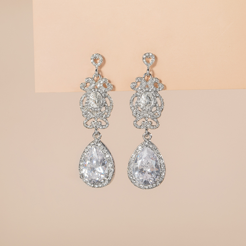 Beautiful Zircon Ladies' Earrings