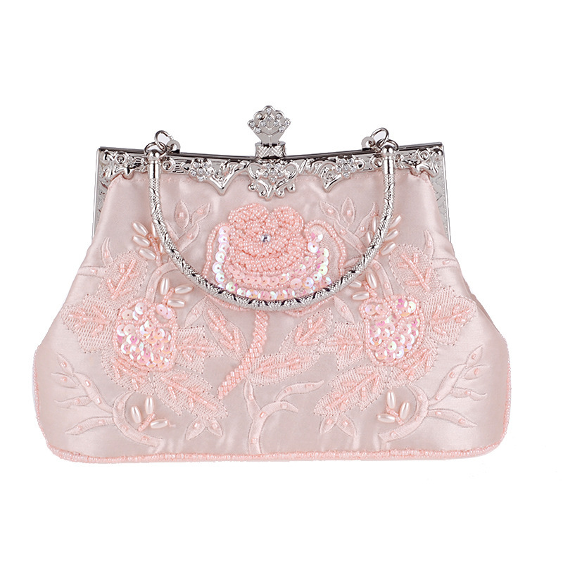 Elegant Embroidery Clutches/Top Handle