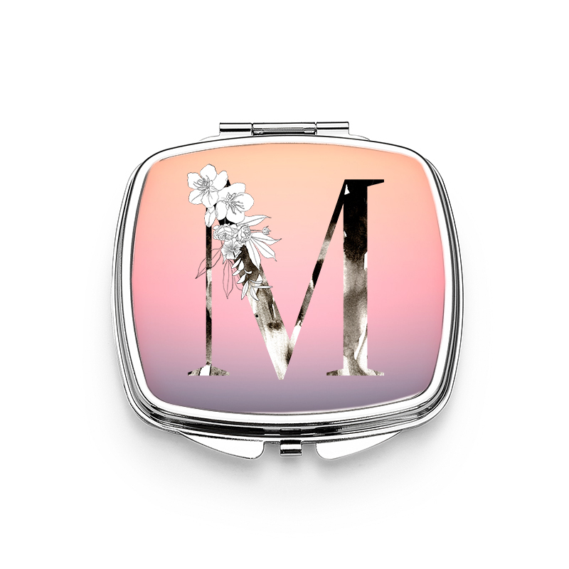 Bride Gifts - Personalized Classic Shiny Special Stainless Steel Compact Mirror