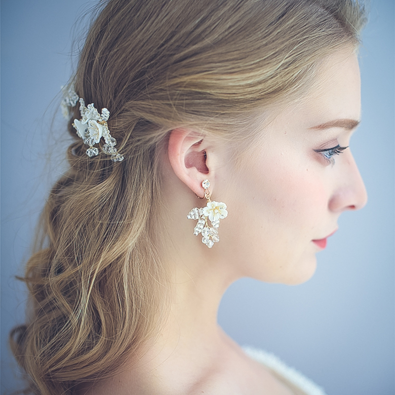 Ladies' Shining Alloy Rhinestone/Beads Earrings For Bride/For Bridesmaid/For Mother/For Her
