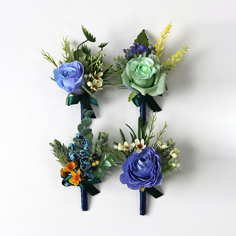 Fascinating Free-Form Cloth Boutonniere -