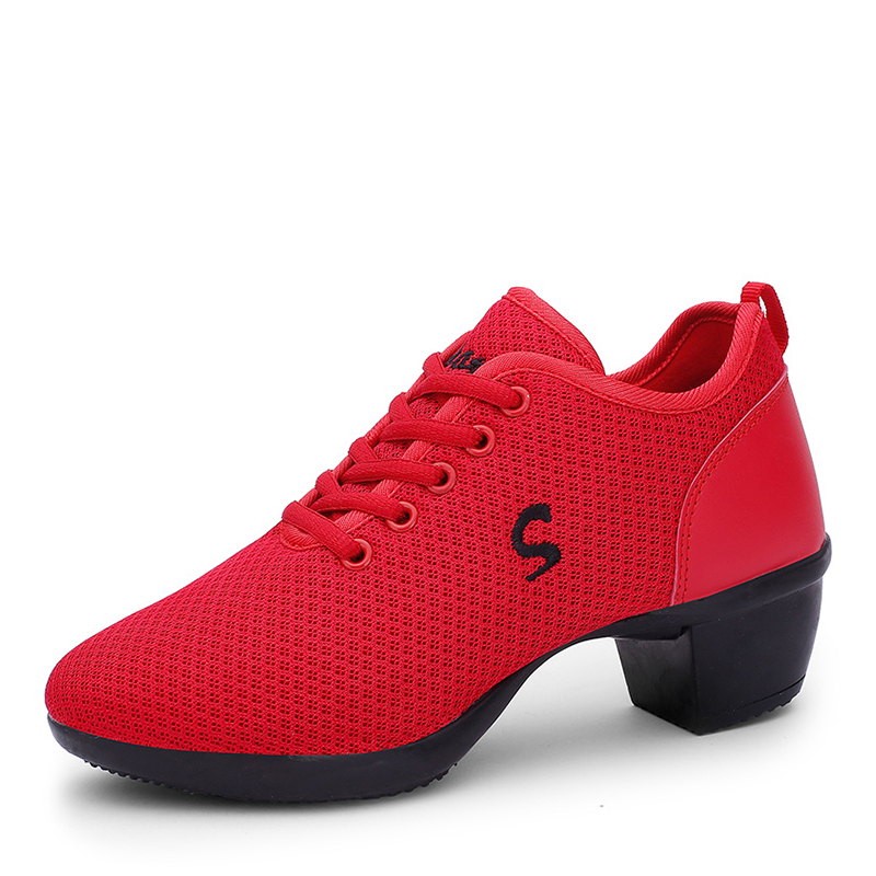 Women's Leatherette Fabric Modern Jazz Sneakers Dance Shoes