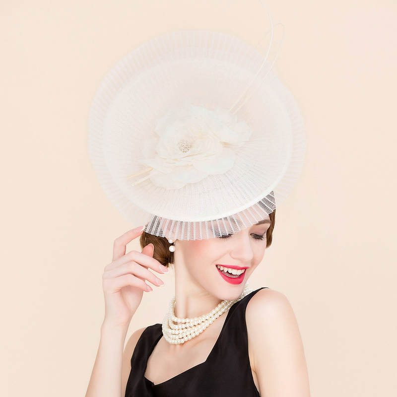 Ladies' Exquisite Cambric With Silk Flower Bowler/Cloche Hats/Kentucky Derby Hats/Tea Party Hats