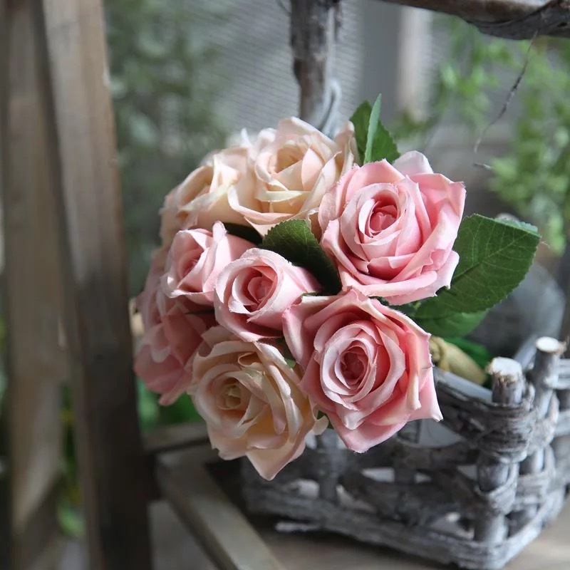 Colorful Free-Form Silk Flower Decorations/Wedding Table Flowers -
