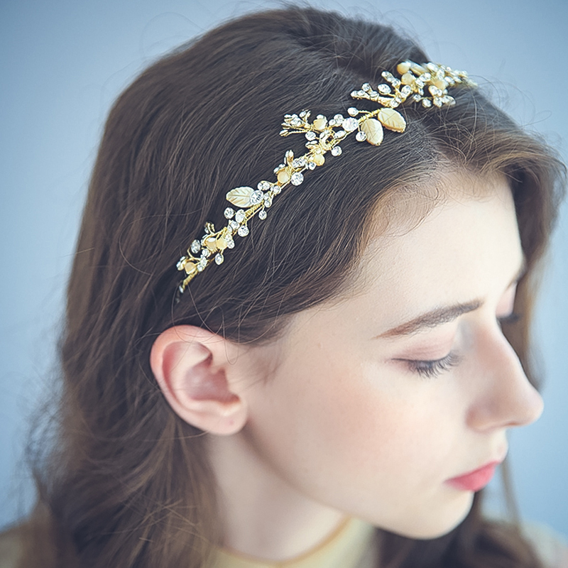 Ladies Handmade Alloy/Beads Headbands With Rhinestone