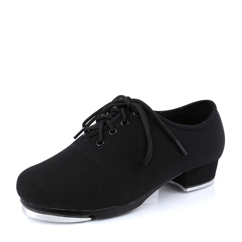 Unisex Canvas Flats Tap Dance Shoes