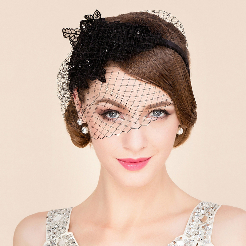 Ladies' Beautiful Net Yarn Fascinators/Tea Party Hats