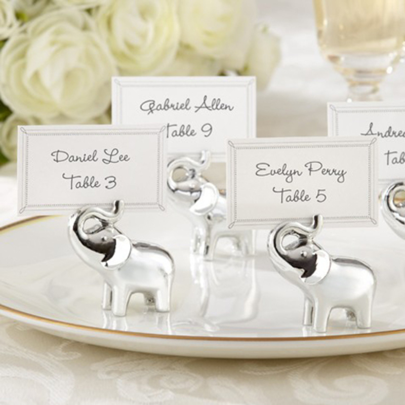 Lovely Elephant Resin Place Card Holders (Set of 6)
