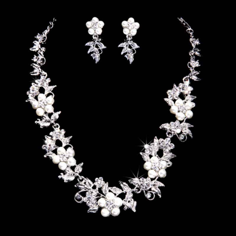 Elegant Alloy/Pearl With Rhinestone Ladies' Jewelry Sets