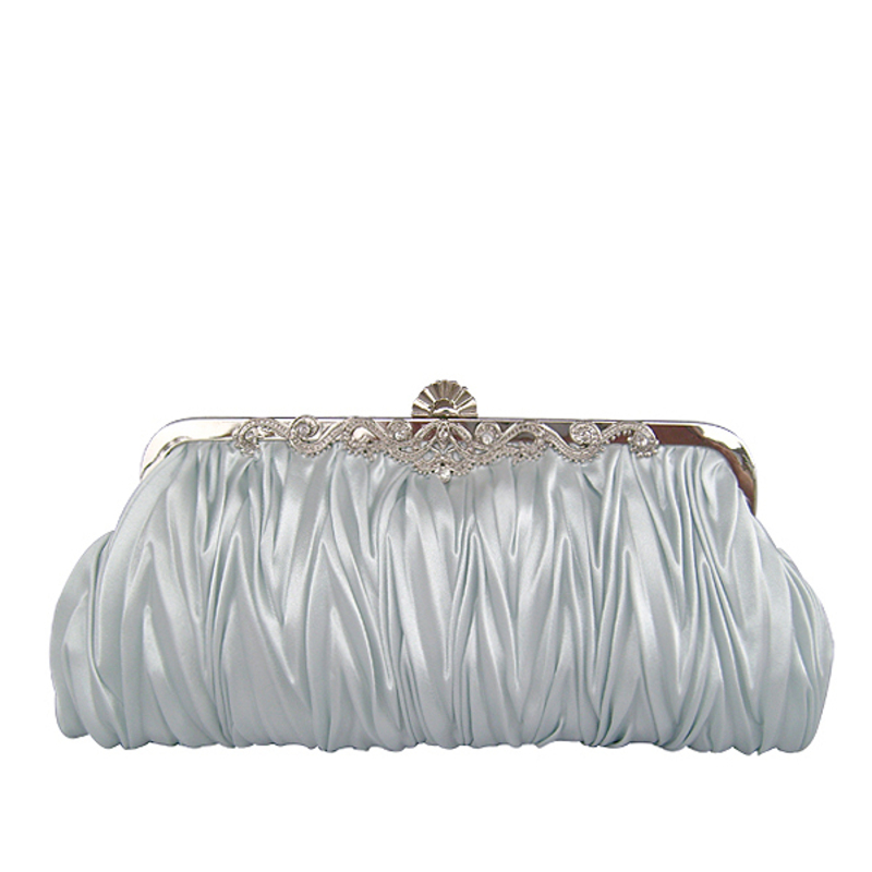 Gold Gorgeous Silk Evening Clutches More Colors Available