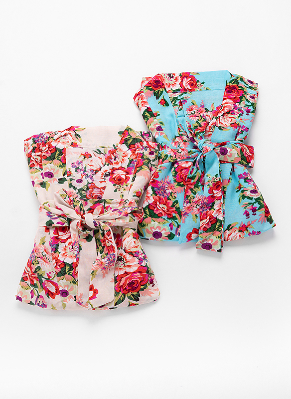Cotton Bride Bridesmaid Floral Robes