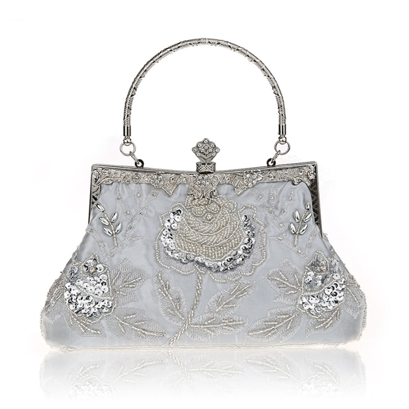 Elegant Sequin/Polyester Clutches/Top Handle Bags