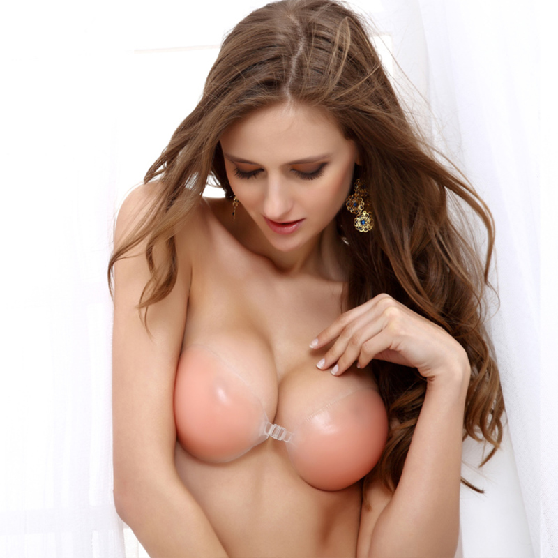 Feminine/Dance/Gym Attractive Silicone Adhesives&Shapers/Wireless/Backless Bra/Nipple Covers