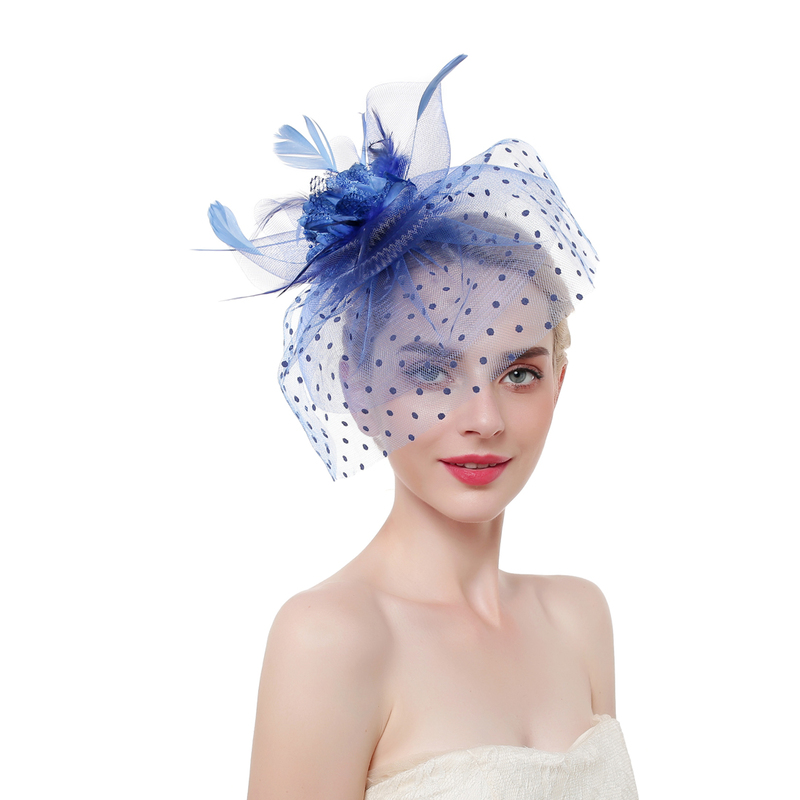 Ladies' Beautiful Cambric With Feather Kentucky Derby Hats