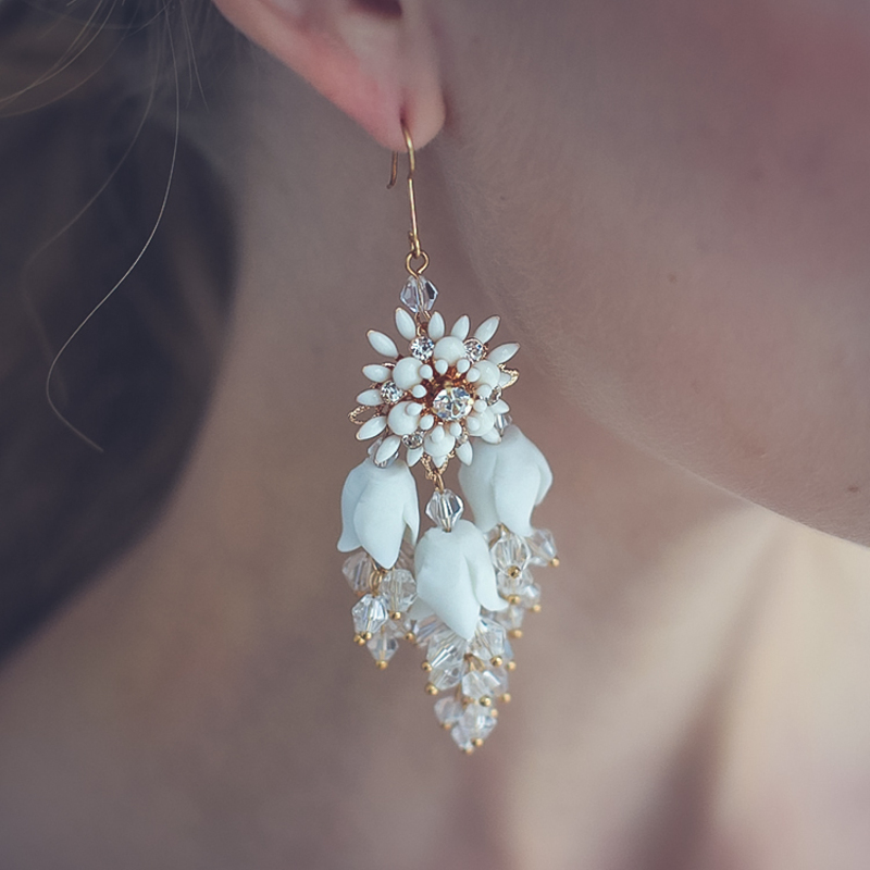 Ladies' Shining Alloy Rhinestone Earrings For Bride/For Bridesmaid/For Mother/For Her