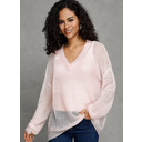 Solid V-neck Pullovers Sweaters (1002228707)