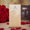 Personalized Side Fold Invitation Cards (Set of 50)