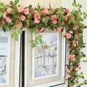 1 Branch Silk Roses Wall Flower Artificial Flowers (Sold in a bunch)