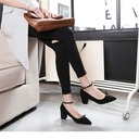 Women's Suede Chunky Heel Pumps With Bowknot shoes