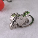 Classic Cool Motorcycle Design Silver Plated Steel Keychains