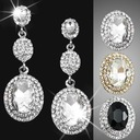 Vintage Alloy/Rhinestones Ladies' Earrings
