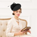 Ladies' Vintage Wool With Silk Flower Fascinators