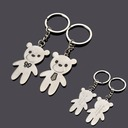 Personalized Bear Zinc Alloy Keychains (Set of 6 Pairs)