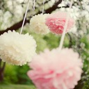"6""(15cm) Ball Shaped Paper Flower (set of 4)"
