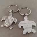 Personalized Animal Shaped Stainless Steel/Zinc Alloy Keychains (Set of 4)