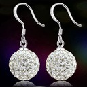 Beautiful Silver With Rhinestone Girls' Fashion Earrings
