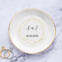 Chic/Round/Delicate/Personalized Ceramic Ring Dish