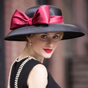 Ladies' Fancy Feather/Net Yarn Bowler/Cloche Hat