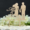 Classic Couple Wood Cake Topper