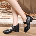 Women's Real Leather Lace Sneakers Character Shoes Dance Shoes