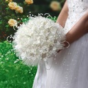 Round Satin/PE Bridal Bouquets (Sold in a bunch) -